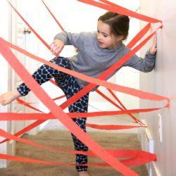 juegos divertidos para niños en casa con cintas