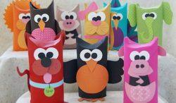 manualidades con tubos de cartón para niños, animales