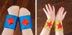 manualidades con tubos de cartón para niños, brazaletes