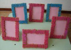 manualidades para niños con pasta, marcos